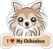 Dog Bone Magnet I Love My Chihuahua Car Sign Puppy Made In Usa Buy2 Get 3rd Free