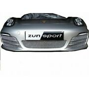 Zunsport Silver Complete Grille Set For Porsche Boxster 981 W/out Sensors