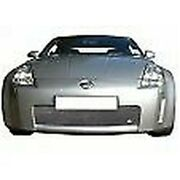 Zunsport Silver Front Grille With Towing Eye For Nissan 350z 2003-05 Zns23203