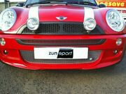 Zunsport Black Front And Rear Grille For Mini Cooper S 2000-06 Zbm4901b
