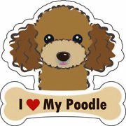 Dog Bone Sticker I Love My Poodle Car Sign Puppy Decal Made In Usa Buy2get3 Free