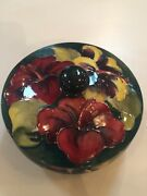 Moorcroft Art Pottery Hibiscus Covered Bowl, 1900-1950, English Pottery