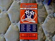 1945 Brooklyn Dodgers Media Guide Yearbook Press Book Program Baseball Roster Ad