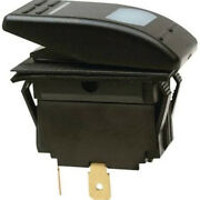 Black Illuminated Spst 2 Position On / Off Rocker Switch For Boats