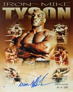 Iron' Mike Tyson Signed Authentic 16x20 Ltd Ed. Collage Photo Psa/dna Itp