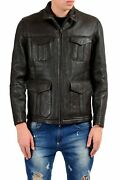 Brunello Cucinelli Menand039s 100 Leather Shearling Full Zip Jacket Size M L 2xl