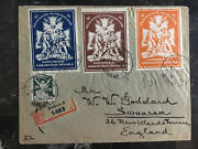 1921 Kosice Czechoslovakia Registered Cover To England National Theater Labels