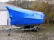 Boat Marine Construction Shrink Wrap 17andrsquo X 110andrsquo Protect Blue