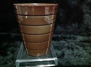 Soendgen Keramik Pottery Brown Stepped Planter Made In Germany 233/73