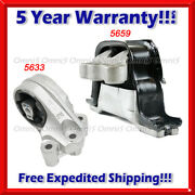 M368 For 10-17 Chevy Equinox/ Gmc Terrain 2.4l Auto Ft Motor And R Trans Mount 2pc