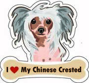 Dog Bone Magnet I Love My Chinese Crested Car Sign Puppy Usa Made Buy2get3rdfree