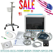 Portable Vital Signs Icu Patient Monitor With Rolling Stand Etco2 Capnograph Fda