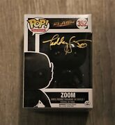 Teddy Sears Zoom Signed Dc Comics Toy Autographed The Flash Funko W/coa