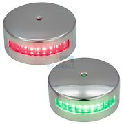 Red Green Led Navigation Light Horizontal Mount Boat Side Lamp Stainless 12v
