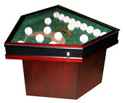 Field Of Dreams 18 Baseball Homeplate Shaped End Table - Unique - A Usa Product