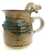 Armadillo Cup Handmade Pottery Glazed Signed Coffee Mug Collectable Art