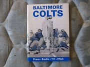 1963 Baltimore Colts Media Guide Yearbook Don Shula Debut Miami Dolphins Nfl Ad