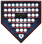 39 Baseball World Series Champions Homeplate Shaped Display Case - First Rate