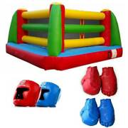 Commercial Inflatable Boxing Ring Interactive Game W Headgear Gloves And Blower