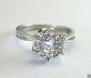 0.80cts Round Solitaire Diamond Engagement Ring White Gold 14k