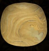 Art Pottery - ABSTRACT SWIRL PASTEL COLORS Platter - Stoneware Signed