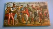 1890 Uncle Sam W Berry Bros Hard Oil Finish Graphic Victorian Trade Card Scarce