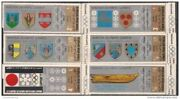 Yemen 1968 Winter Olympic Games Sports Coat Of Arms 6v Set Mnh