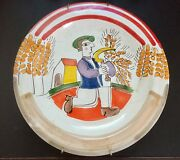 Vtg Mid Century Giovanni DeSimone Plate Platter Picasso Style modern Italy