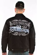 Lucky 13 The Dragger Low And Evil Old No 13 Adult Chino Bomber Jacket Lm9085dg