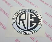 Sticker Logo Badge Bullet Classic Tb Electra 105mm Round For Royal Enfield
