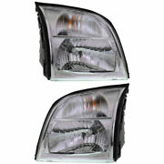 New Head Lamp Assembly Set Of 2 Left And Right Side Fits 2006 Mercury Mountaineer
