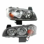 New Set Of 2 Lh And Rh Side Headlamp Assembly Fits 2002-2003 Nissan Maxima