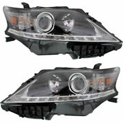 Set Of 2 Lh And Rh Side Halogen Head Lamp Assembly Canada Built Fits Lexus Rx350