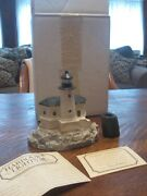 Harbour Lights Coquille River Or Hl111 Canada 6 Sided Lighthouse 1991 Rare W/bo
