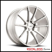 Savini 20 Bm12 Brushed Silver Concave Wheels Rims Fits Ford Mustang Gt Gt500
