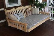 Outdoor 75 Royal English Swing Bed - 18 Finish Options - Amish Made In Usa