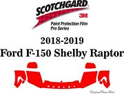 3m Scotchgard Paint Protection Film Pro Serie 2018 2019 Ford F-150 Shelby Raptor