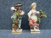 Pair Of Meissen Porcelain G-series G4 Boy And Girl Same Modeller And Painter Coll