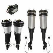 5 Piece Air Suspension Kit Air Shock Strut Compressor 5pc For S350 S430 S500 Rwd