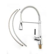 16 Inch Kitchen Sink Faucet Chrome Swivel Spout Pull Down Single Hole Mixer Tap