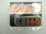Nos Vintage Honda Cb360 Reflective Helmet And Motorcycle Decals Stickers W6108