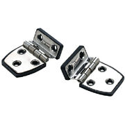 2 Pack Of 2-1/4 X 1-1/2 Inch 304 Stainless Steel Short Side Offset Hinges