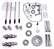 Andrews Sands Gear Drive Cams Set Pushrods Lifters Engine Kit Harley Twin Cam 59g