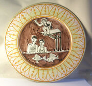 A Vintage Hand Painted Italian Art Pottery Plate A22