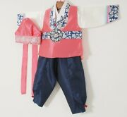 Hanbok Korean Traditional Clothing New Year Party Costume Baby Toddler Boy Coral