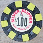 100 Vintage 7th Edt Gaming Chip From The Silver Slipper Casino Las Vegas