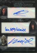 Star Wars 40th Anniversary Triple Autograph Card [3/3] Park And Mcdiarmid And Wood