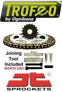 Suzuki Sv1000n K3-k6 Unfaired 03-07 Trofeo And Jt Chain And Sprocket Kit + Tool