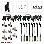 Coil Package 8 Coils+8 Bosch Spark Plugs+8 Sp Plug Wires+2 Bracket+2 Harness