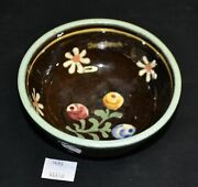 ThriftCHI ~ Small 3 Footed Pottery Bowl Hand Painted Marked w K and Innsbruck
